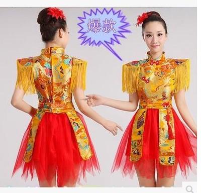打鼓服现代舞蹈服水鼓服装演出服女舞台装表演服排舞开场舞民族风