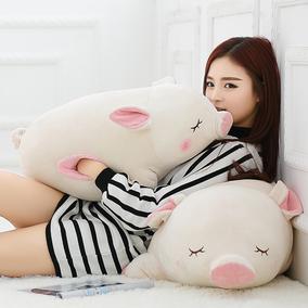 猪娃娃公仔抱枕抱着睡觉的萌韩国趴趴猪玩偶可爱懒人毛绒玩具女孩