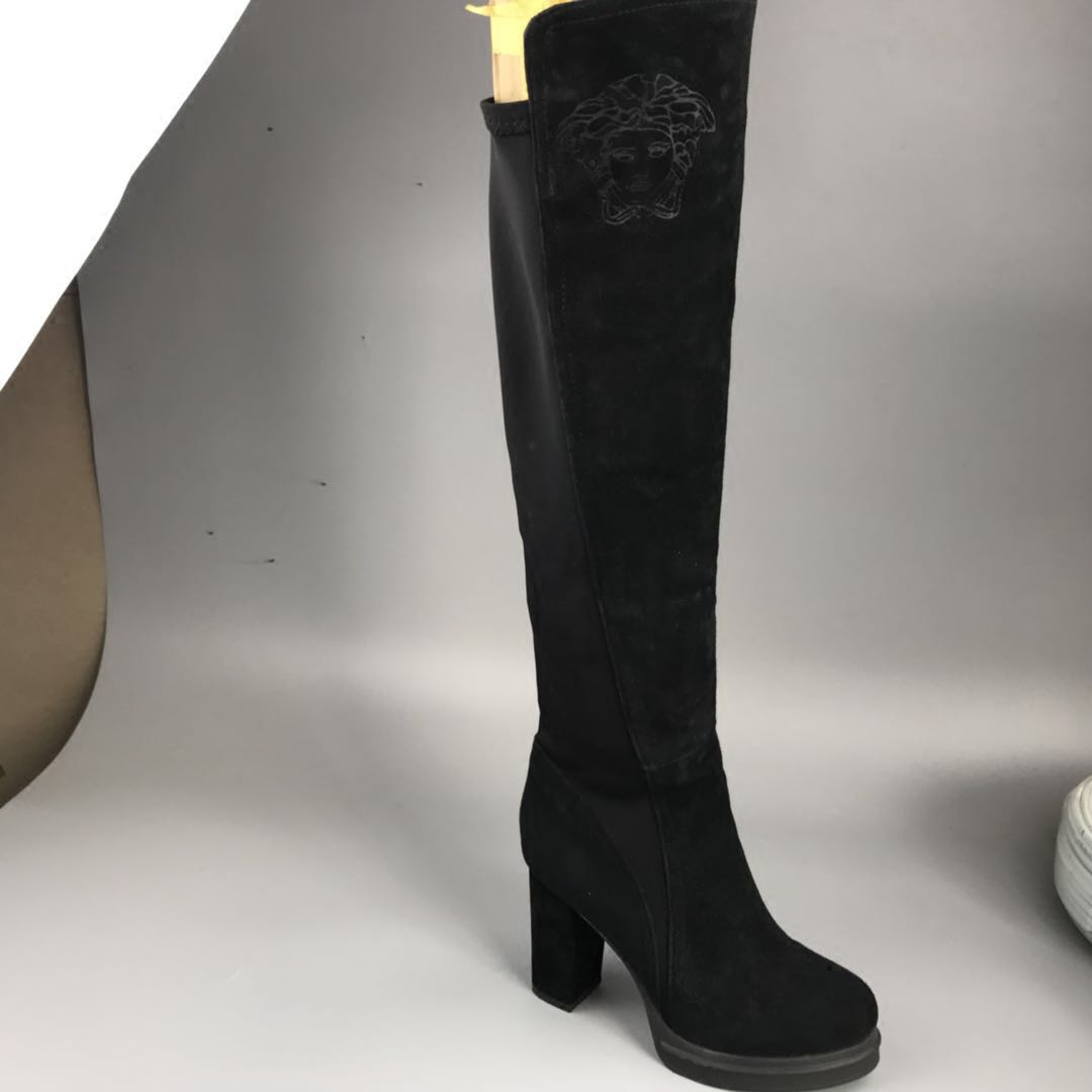 磨砂布高筒靴