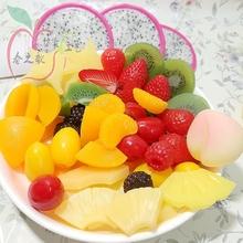 仿真水果切片菠萝黄桃柠檬奇异果草莓切块假水果模型DIY配件装饰