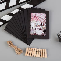 Cute cartoon creative combination beautiful 6 inch paper photo frame hanging photo wall hanging wall to send clip hemp rope