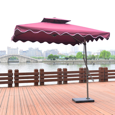 扳手伞方形户外伞太阳伞遮阳伞庭院花园酒店保安伞广告伞沙滩伞