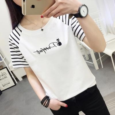 夏季韩版春装短袖T恤女宽松百搭打底衫上衣学生女装大码显瘦体恤