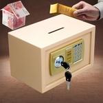 迷你小型小店密码收银投币式保险箱保险柜隐形钱箱保管箱存钱罐