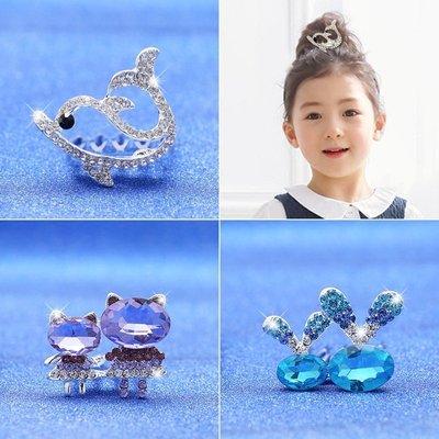 儿童头饰 皇冠公主水钻插梳女童卡子女宝宝发梳小女孩发卡发饰品