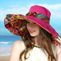 大檐沙滩帽