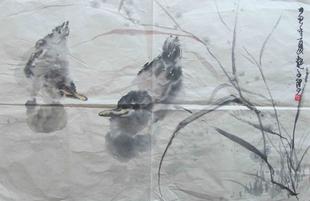 优惠名家字画国画收藏礼物佳选陆越子手绘写意花鸟作品1 2694 特价