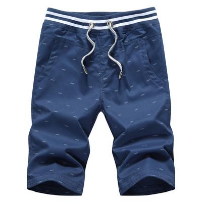 夏天男装修身5五分中裤子7分七分大裤衩夏季马裤薄款男士休闲短裤