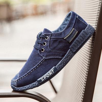 2018春季新款男鞋牛仔帆布鞋男士韩版百搭休闲鞋老北京布鞋男板鞋