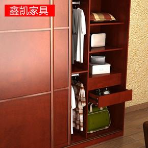 南京家具定制推拉门衣柜简易板式木质移门衣柜储物柜定做