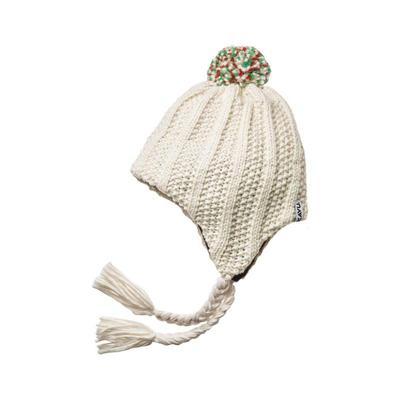 kavu冬季乳白色编织毛线帽护耳女帽子美国直邮B13469T
