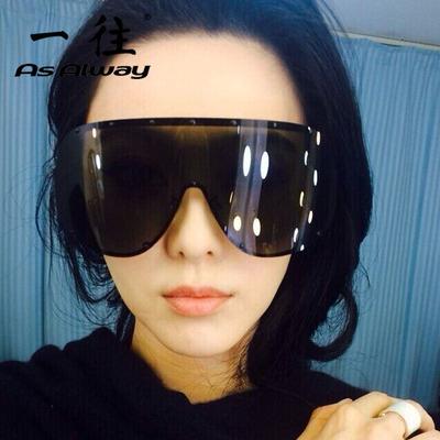 女明星款超大框连体偏光太阳镜遮阳防晒挡风墨镜眼睛防紫外线眼镜