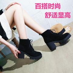 秋冬磨砂皮女短靴