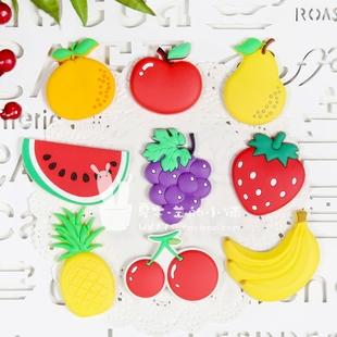 新款热销 创意可爱蔬果冰箱贴磁贴 卡通立体早教水果软胶装饰贴