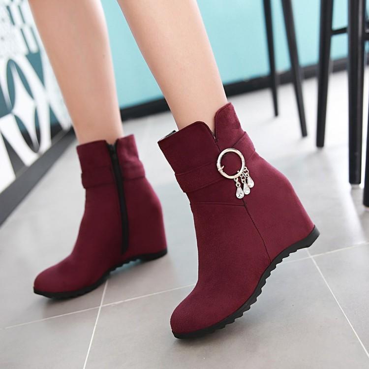 高跟鞋女冬季内增高