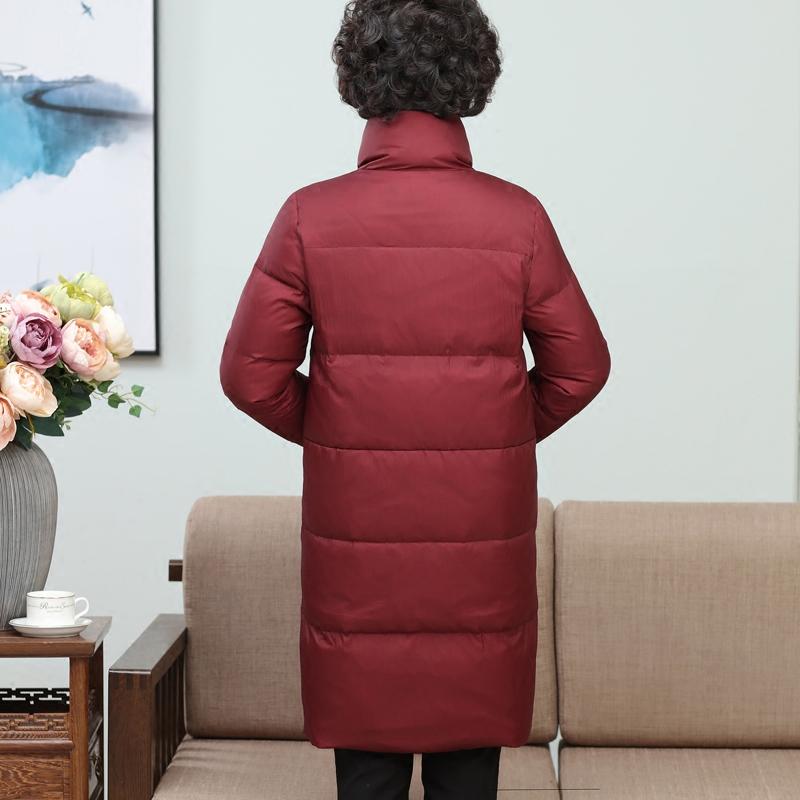 中老年羽绒服女中长款2017新款韩版潮中年女羽绒服中长款40岁妈妈