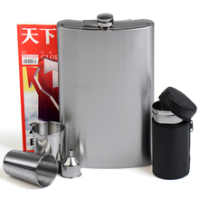 Pepsi 1800 ml 3 kg and a half 304 thick stainless steel pot, portable outdoor portable flat kettle.
