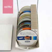 Actto Anshang CD Case Creative CD Case Pack Large Capacity DVD Disc Storage Box Disc Pack Box with Lock Box