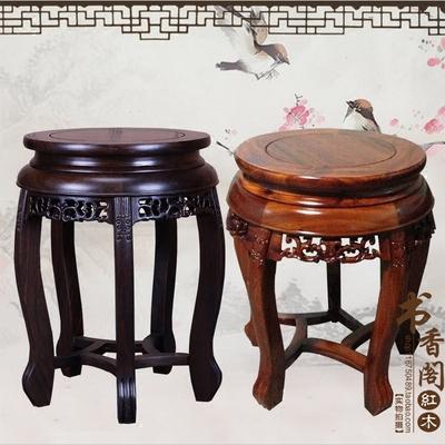 红木黑檀木凳子非洲酸枝木小方凳铜钱板凳矮凳小木方凳实木圆凳哪里便宜