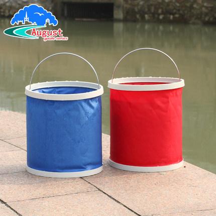 户外用品旅游可折叠水盆 脸盆旅行携式钓鱼桶 牛津布折叠水桶
