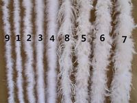 Diy festive decoration turkey feather strip thick flat hair top wedding feather toy gift craft decoration