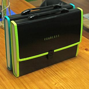 康百A4风琴包多层文件夹学生试卷夹手提文件袋资料收纳办公包邮