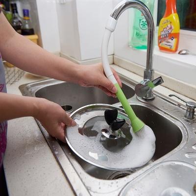 晋腾厨房用刷水龙头连接软管带刷子 通水PP水池刷水槽去污清洁刷