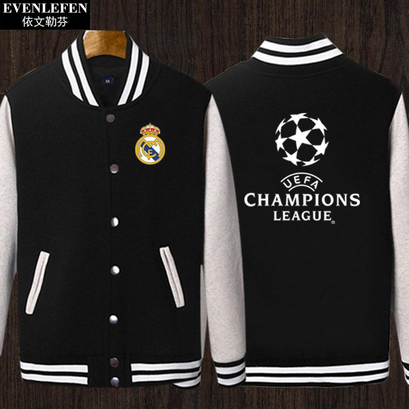 欧冠足球棒球服衫加绒外套男阿森纳尤文马竞皇马米兰切尔西球迷服