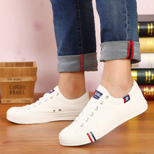 Low to help men's canvas shoes youth high school students casual shoes Korean version of the tide white black spring and autumn couple male shoes