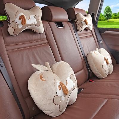可爱卡通汽车头枕抱枕四件套车用颈枕靠枕一对车内苹果枕头靠背垫