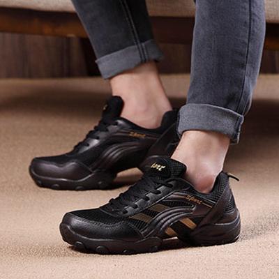 舞蹈鞋男式男鞋软底增高中跟跳舞鞋春秋季新款现代水兵广场舞鞋女