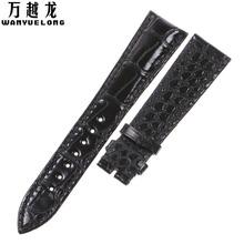 万越龙表带适用于宝玑Breguet5930经典传承双面美洲鳄鱼皮表带男