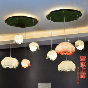 现代新中式吊灯客厅餐厅过道灯具个性创意灯饰莲花荷花吊灯