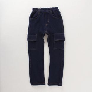 儿童牛仔裤大中男童女童仿牛仔小脚裤长裤纯棉铅笔裤收脚潮