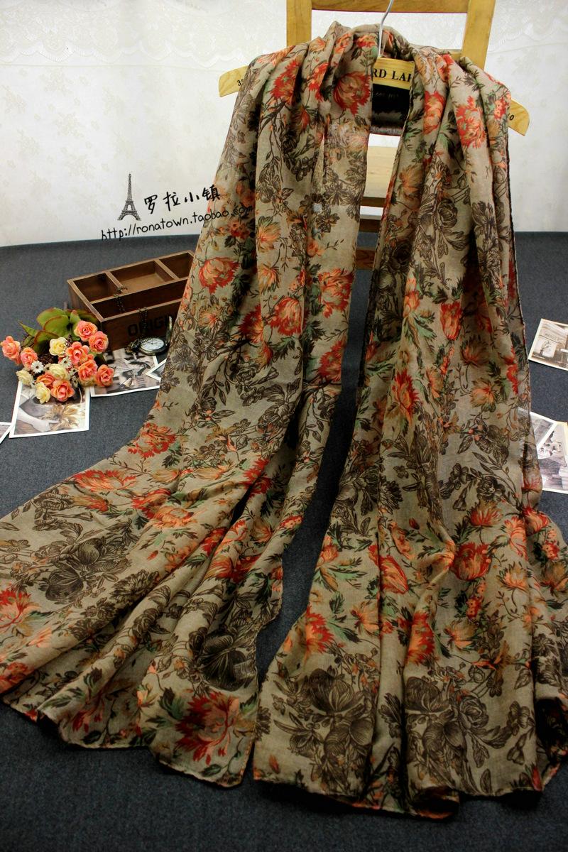Женские шарфы из хлопка Артикул 40378420754