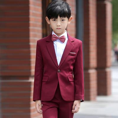 儿童西装套装秋冬童装礼服男童小西服宝宝西装花童礼服男演出服