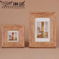 琳诺 简约仿木摆台相框组合3寸6寸7寸墙壁照片框组合壁挂像架像框
