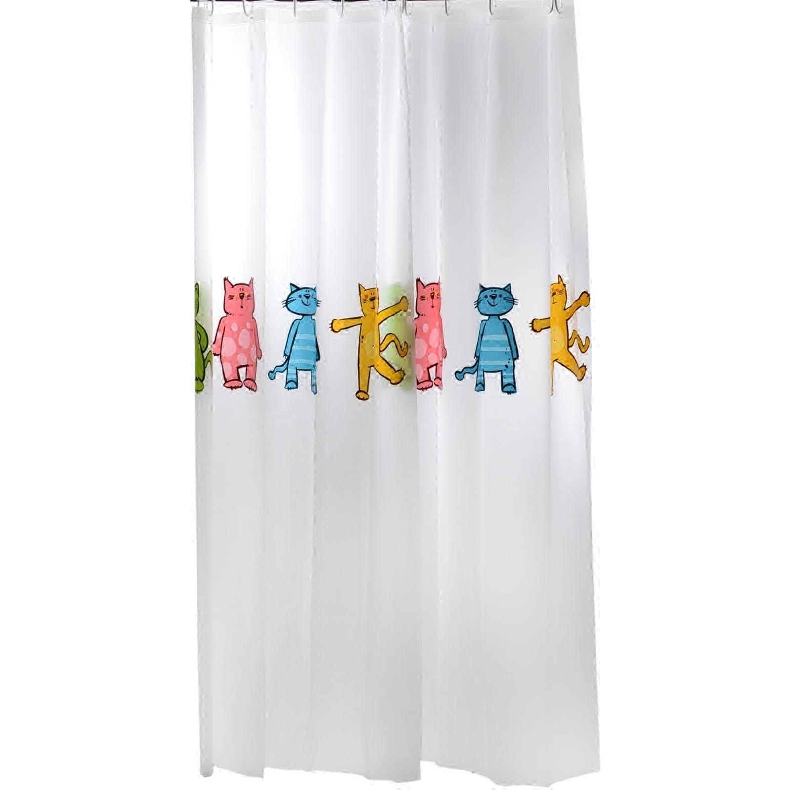 SPIRELLA/丝普瑞简约卡通机器猫PEVA加厚塑料防水浴帘浴室隔断帘