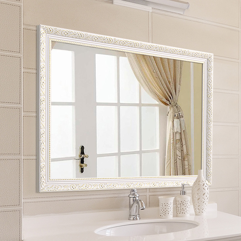 卫浴镜子实木
