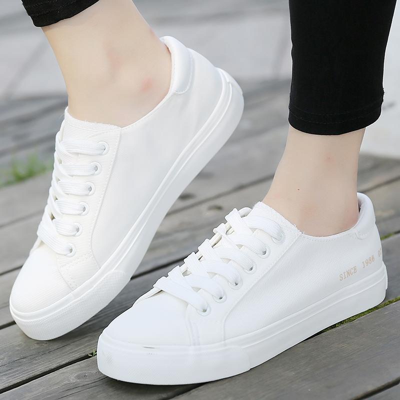 低帮女鞋韩版帆布鞋潮