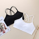 Teenage girl wipe chest beauty bra short wrap chest with chest pad student vest bottom sling parachute lingerie woman