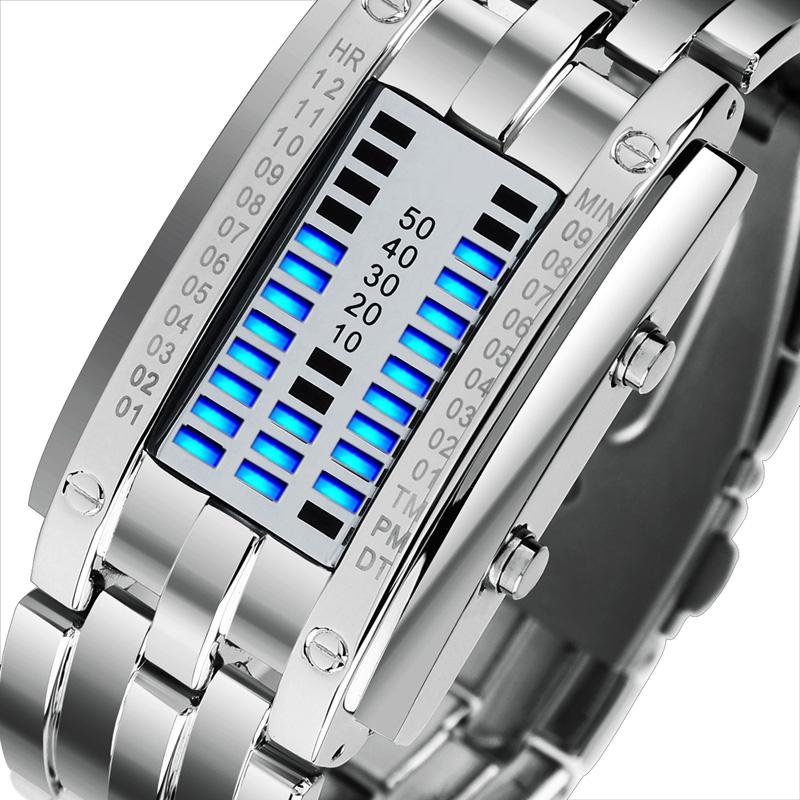 时刻美韩版创意led情侣手表