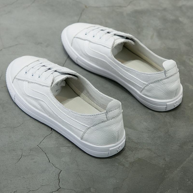 纯皮平底单鞋