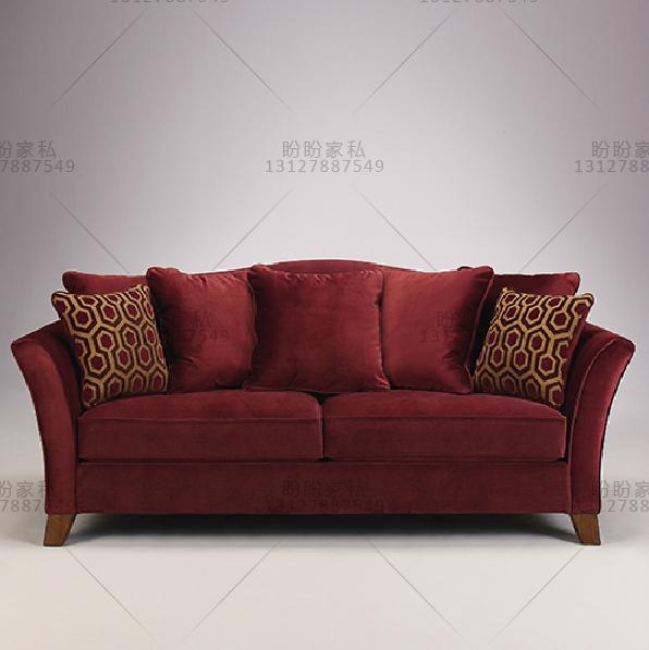 欧式红色沙发