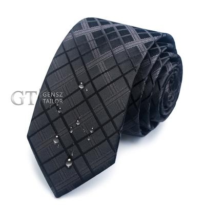 純色小領帶男韓版6cm細窄版正裝商務男士結婚休閑黑色領帶學生