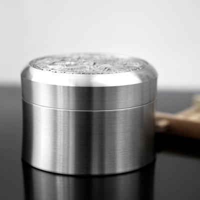 泰芝宝普洱茶叶罐小号 便携式密封迷你纯锡罐 金属储物旅行茶叶盒