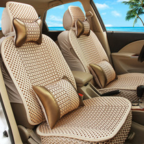 吉普17款指南者自由侠自由光冰丝汽车坐垫四季通用全包专用座垫夏