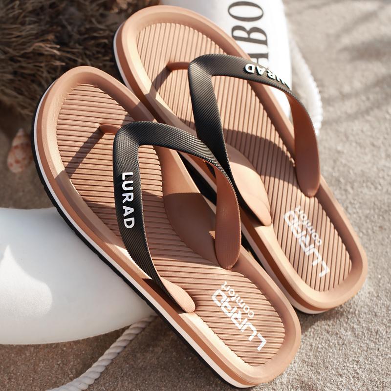 路拉迪男士人字拖鞋夏季 厚底凉拖夹拖防滑凉鞋男沙滩鞋欧美潮流