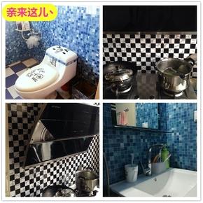 厨房马赛克防油贴纸浴室卫生间防水瓷砖贴纸自粘墙纸壁纸墙贴包邮