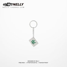 Fortune Mahjong Key Link Three-dimensional Thickening Lucky Road Key Ring Creative Gift Automotive Key Chain